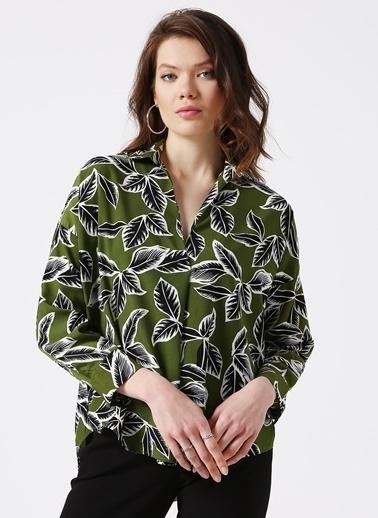 House Of Camellia Bluz Yeşil
